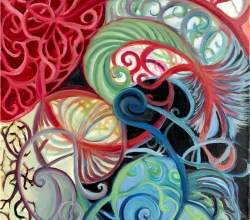 'untitled with spirals' Oil Painting detail by .carolinecblaker. 1290382009